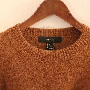 Forever 21 Cropped Burnt Orange Sweater